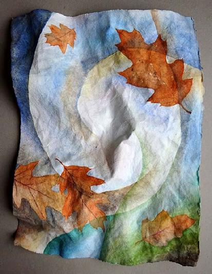Shaped watercolor painting by Barbara Stout
